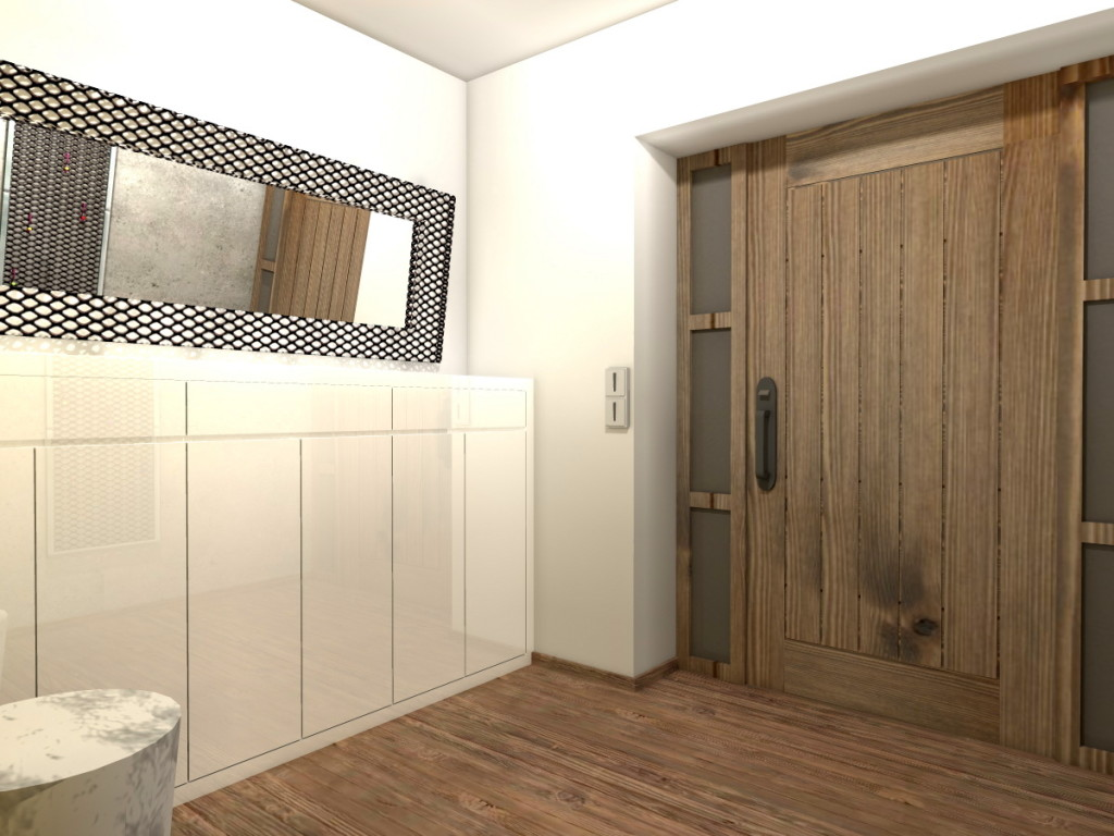 Design Of The Hallway, Kitchen, Living Room, Bathrooms In The New Family  House Part 54
